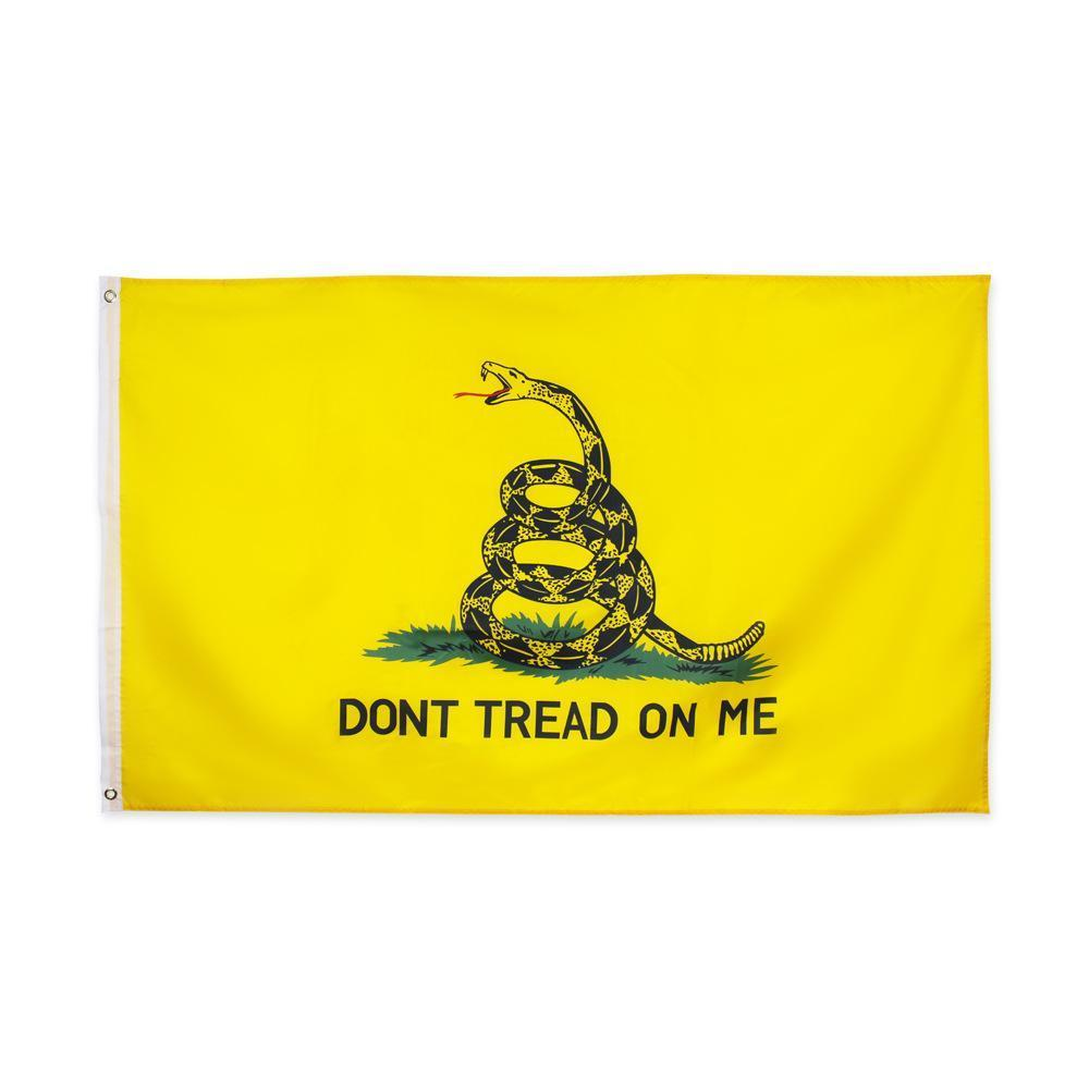 US-amerikanische Lager Großhandel 7 Designs 3x5 ft 90 * 150cm US-amerikanische Tee-Party nicht Profil auf mich Schlange Gadsden-Flaggen