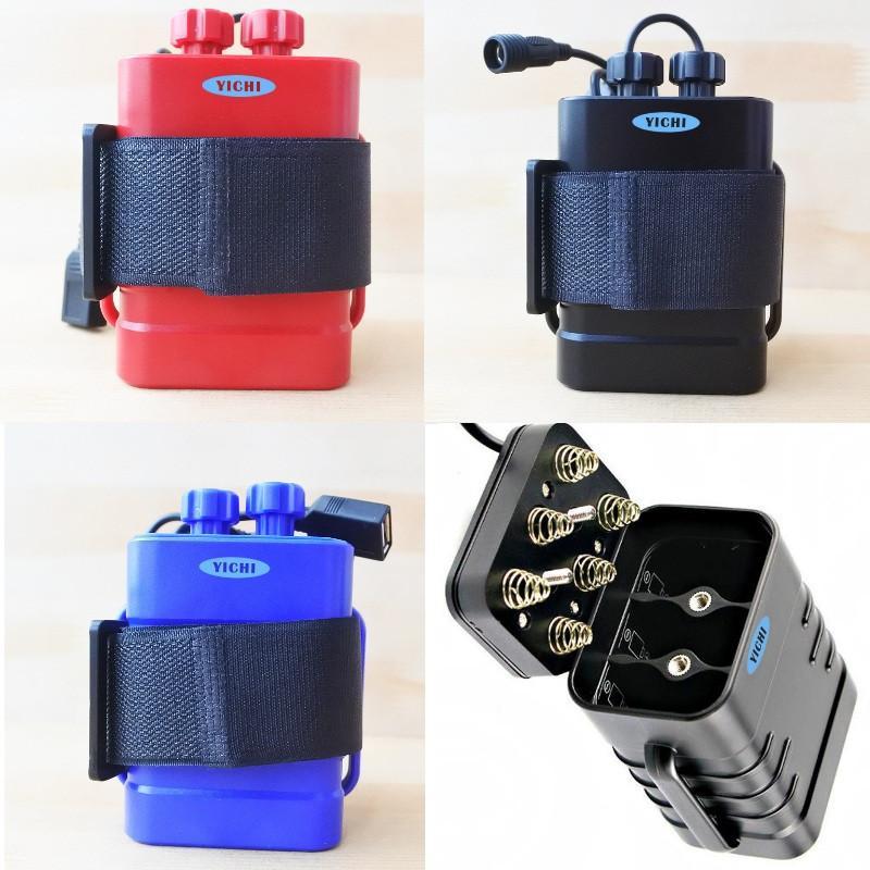 18650 Batteriepaket Hülle Wasserdicht 8,4V USB DC Lade 6 * 18650 Power Bank Box für LED-Fahrradlicht