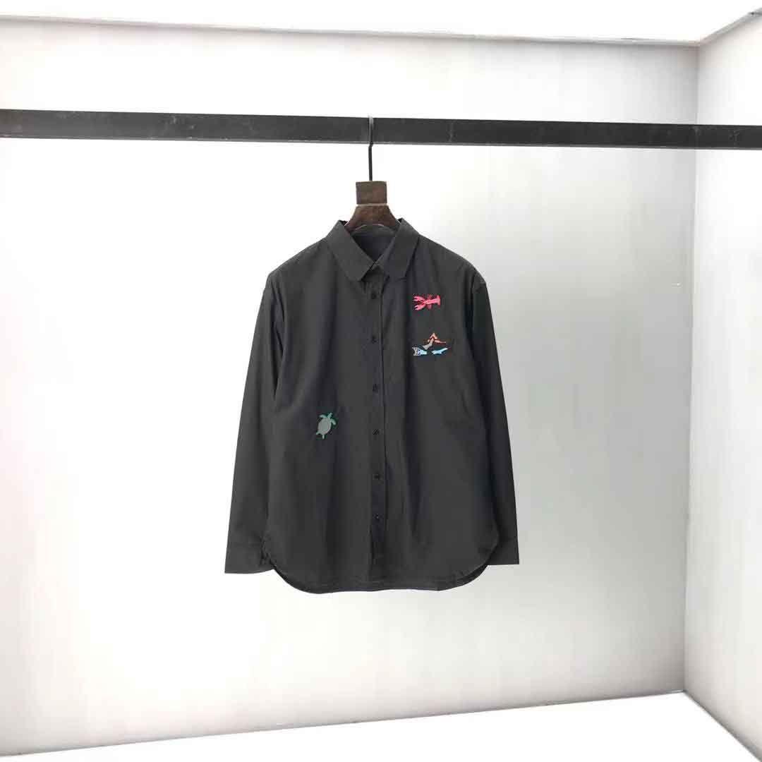 2021 круглые шеи мужские плюс тройники Polos с хлопковой печати и вышивкой, 100% реплика европейского размера HT41