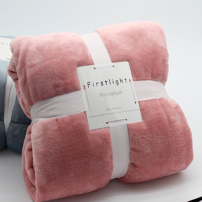 Flannel Fleece Big Blanket Pink King Queen Size Bed Cover For Sofa Couch Cobertor Cama Para De Inverno Mantas Blankets