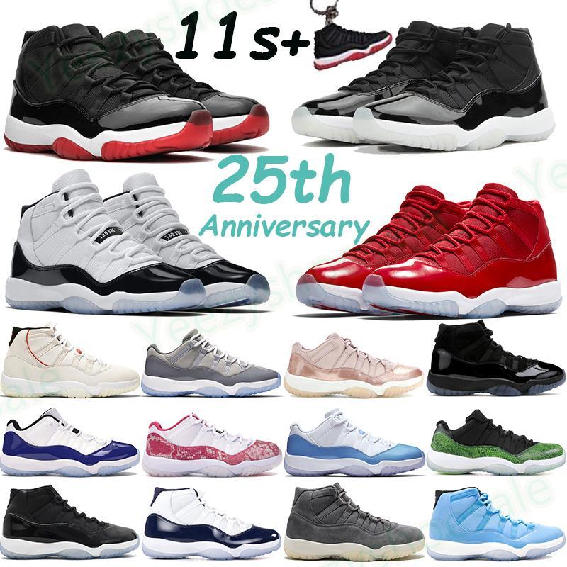 2020 Heiress Night Maroon 11 11s Basketbol Ayakkabıları Pantone Soğuk Gri Concord 45 Platin Tonu Düşük Efsane Mavi Erkek Spor Ayakkabıları Yetiştirildi