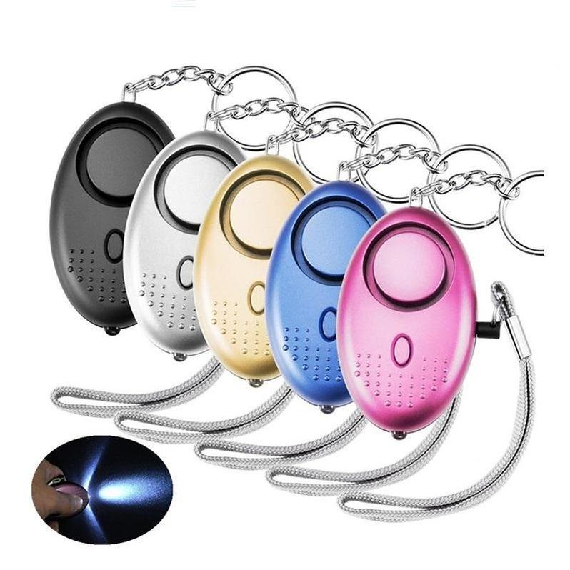 130db forma de huevo autodefensa alarma mujer seguridad proteger alerta de seguridad personal segura personal fuerte llavero alarma DHL Envío
