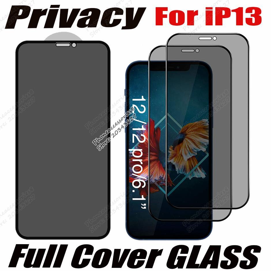 مكافحة جاسوس الخصوصية غطاء كامل الزجاج المقسى حامي آيفون 13 12 ميني 11 برو ماكس XR XS SE 6 7 8 زائد Samsung A12 A22 A32 A42 A52 A72 5G فيلم مكافحة الزقزف