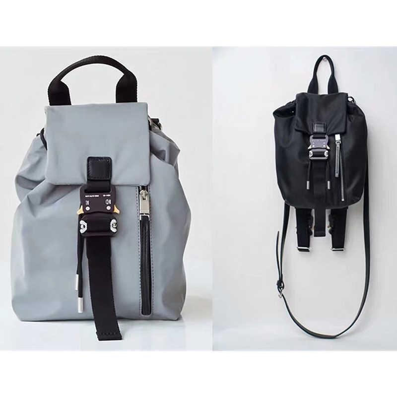 الهيب هوب أليكس حقيبة الظهر الرجال المرأة عارضة الشارع الشهير جودة عالية alyx crossbody حقيبة معدنية مشبك متعددة الوظائف التكتيكية alyx حقيبة Q0622