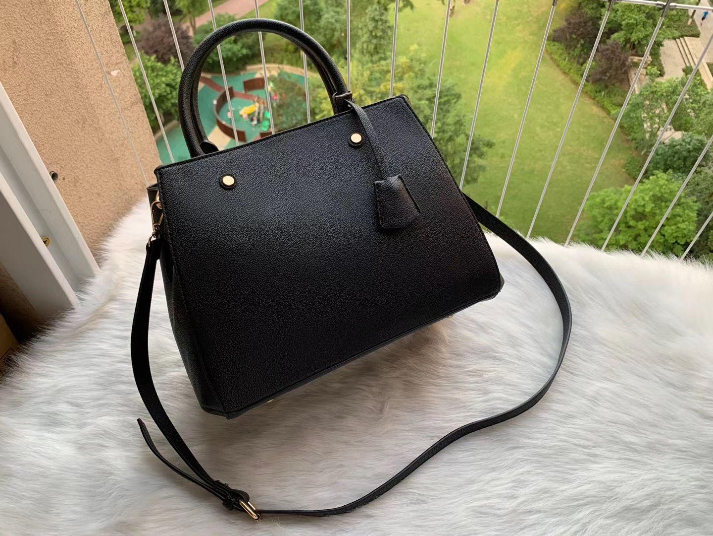 Luxurys дизайнеры сумки сумки Montigne сумка женщин Tote бренд писем тиснение натуральные кожаные сумки через плечо Shad Charsbody SATCHEL N41056