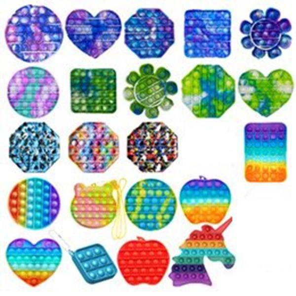 Смешные игрушки FIDGET Простой Игрушка Игрушка Игрушка Пузырь Сенсорные Для Взрослых Детей Стресс Редивер Аутизм Подарок GWB5572