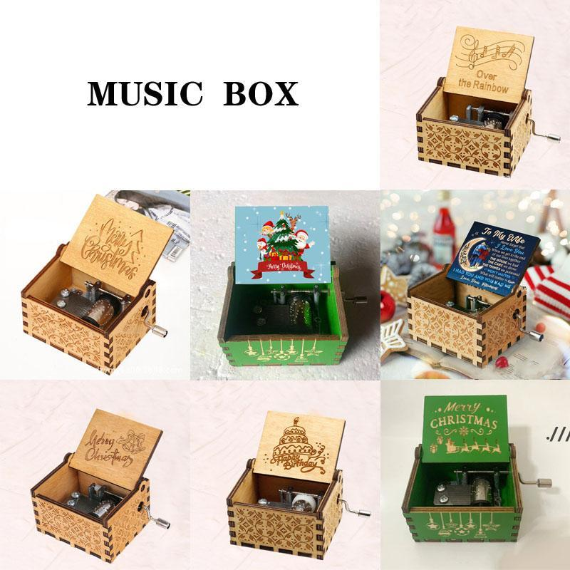 Wooden Handcrafted Music Box Christmas Birthday Valentine's Day Gift DWF7837