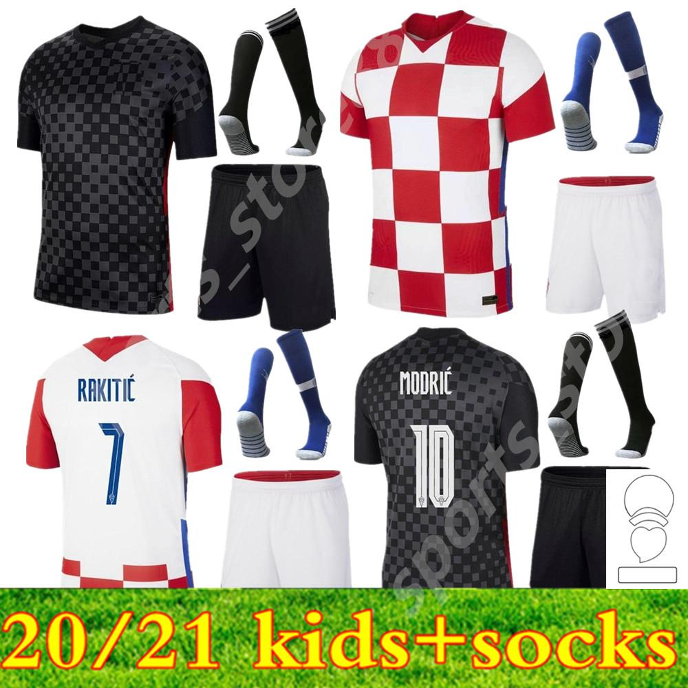 2021 meninos jovens futebol jerseys perisic 20 21 Mandzukic réquias Modric kits de futebol camisa rakítica crianças kit kit uniformes