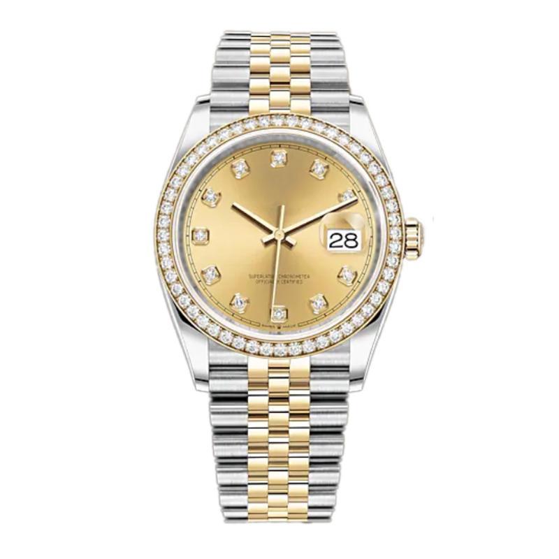 Relojes de lady de diamante para hombre Movimiento mecánico automático Relojes de pulsera de acero inoxidable completo Reloj de natación Super luminoso de zafiro de zafiro Montre de Luxe 36-41mm