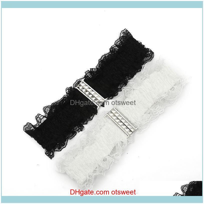 Cinturones Aessories Aessories Aesoros Tótem Retro Cintura de encaje de Tótem Retro Moda Moda Negro Blanco Elástico Vestido Estirar Cintura Cinturón Banda Banda Ladi