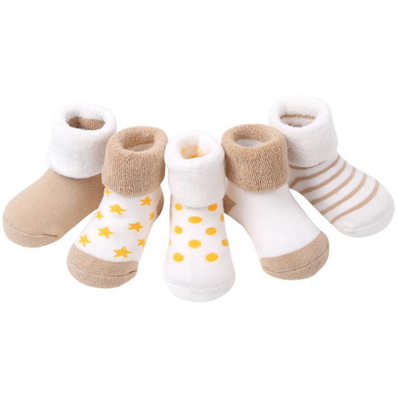 Par de alta calidad espesa de dibujos animados comodidad algodón calcetines nacidos niños niño bebé niña antideslizante interior invierno caliente