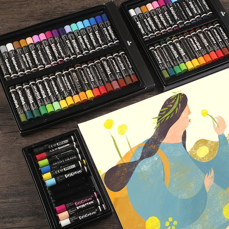 Cor pastel pastel pastel vara de caneta infantil Pintura DIY Smear Crayons Estudante Presente Papelaria Suprimentos Sets