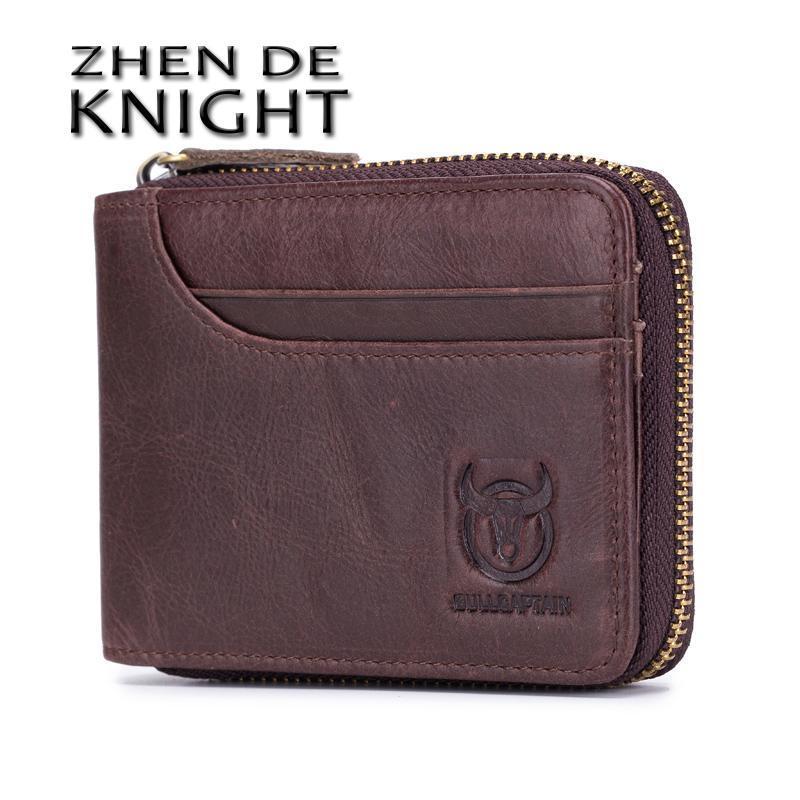 العلامة التجارية جلد طبيعي الرجال محافظ قصيرة عملة محفظة صغيرة الرجعية محفظة جلد البقر حامل بطاقة الجيب