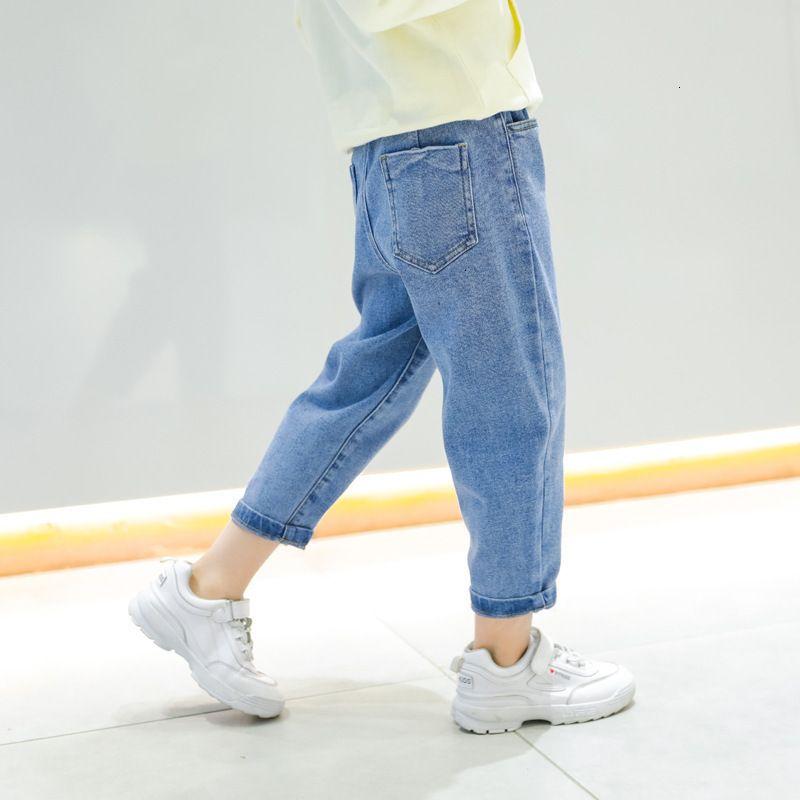 Mädchen Jeans Herbst 2021 Neue chinesische große Kinder koreanische Art lose lässige Kinderhose