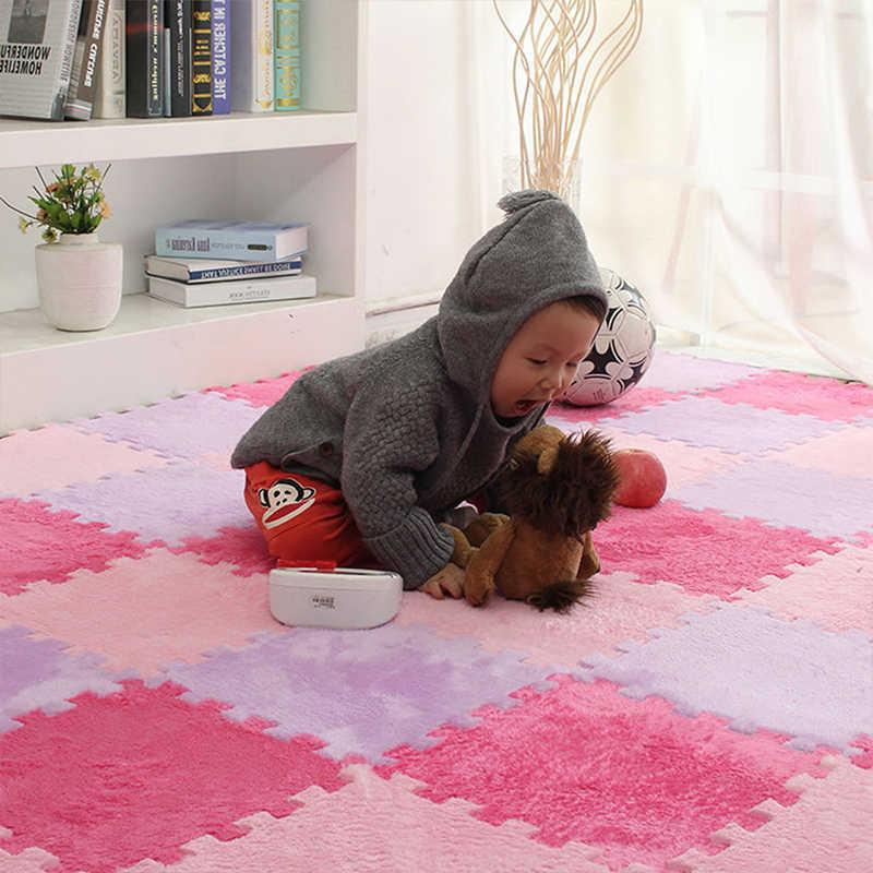 Thicken 10PCS/SET Baby EVA Foam Puzzle Play Mat kids Rugs Toys carpet for childrens Interlocking Exercise Floor Tiles 30*30*1CM H0831