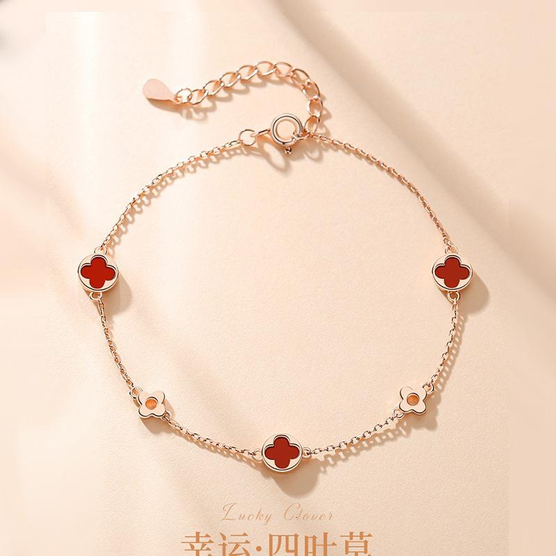 SIYECAO Femmes Design Sense S925 Sier Bracelet Décoration Main Lovers 'Meilleur ami Saint Valentin DAFDHIZ