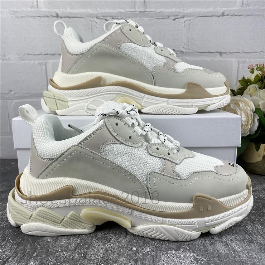 Verschiedene Triple S Chunky Sneakers Klassische Freizeitschuhe Plattform Leder Trainer Herren Womens Alte Papa Schuhe Scarpe Mesh Chaussures Trainer
