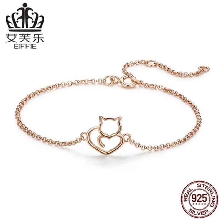 Los anillos de compromiso de los pendientes del diseñador, las pulseras y los collares de oro son los favoritos de las mujeres enlazan, cadenas de gato lindo del Everest con plata esterlina S925 H Judío