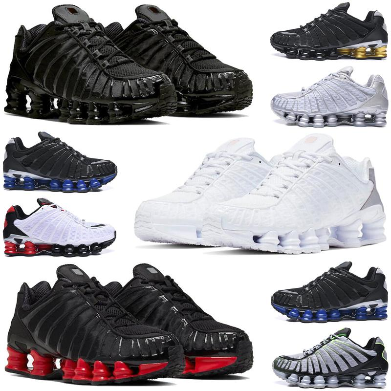 shox tl r4 men women running shoes triple white Silver Red Platinum Chrome mens womens trainers sports sneakers runners size 36-45