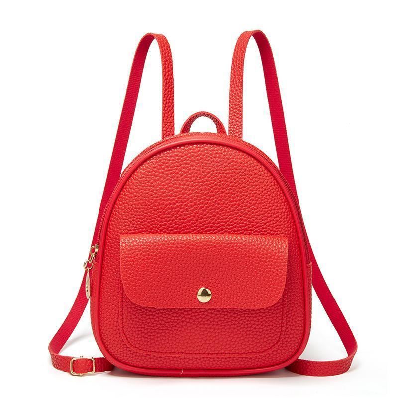 Girls Ladies Mini Small Backpack Women Female Multi-Function Light Bagpack PU School Leather For Teenage Shoulder Bag