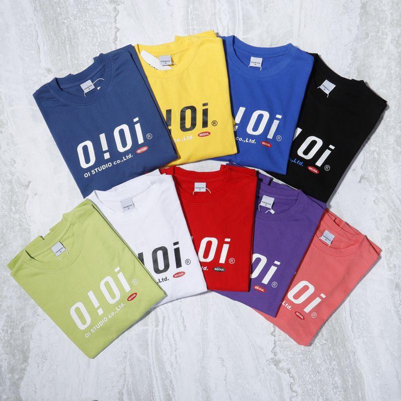 FACTORY2Q8ALETTER NICHE DE COREAN CHAOPAI OIOI HARAJUKU Camiseta de manga corta impresa casual para parejas de verano