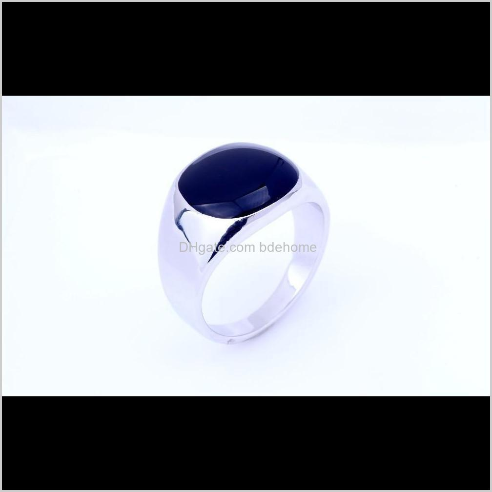Men Rings Fashion Jewellery Gemstone Rings For Men 18k Gold Silver Plated Wedding Stai qylyiQ luckyhat