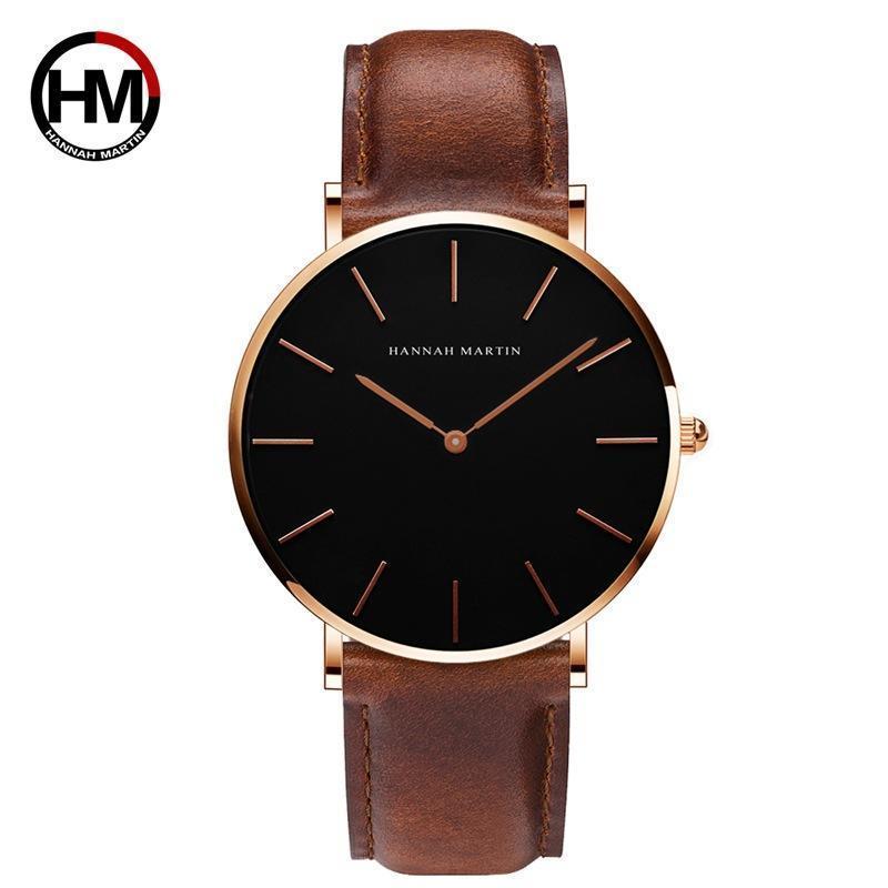 Armbanduhren Japanische Bewegung 40mm Männer Einfache Uhr Für Männer Uhren Casual Mode Zifferblatt Quarz Wasserdicht Relogio Masculino