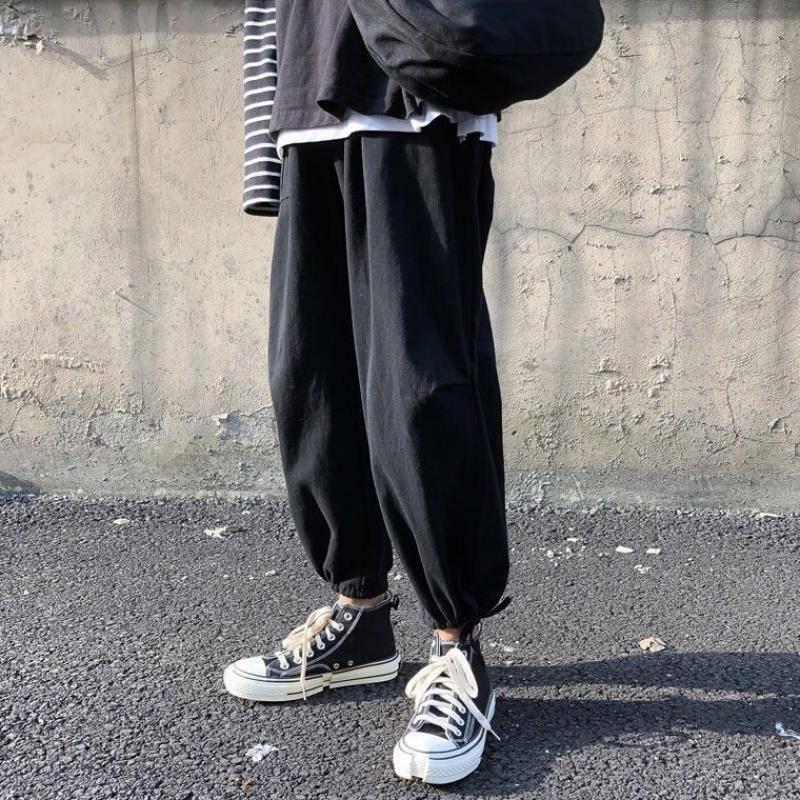 Весна и лето для студентов мужских студентов Корейский свободный корсет комбинезон моды бренд мужские повседневные брюки широкие ноги Capris