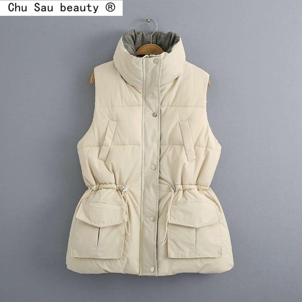 2020 automne hiver nouveau mode femme gilet gilet chaud slim gilet de pain coton manteau veste tops femelle gilet femme