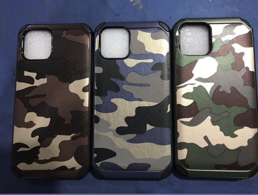 Camuflagem Casos Militares para Galaxy Note 10 Plus A10S A20S A41 A70 A81 A191 A21 M30 A10 A10 A10E 2IN1 PC Híbrido PC Plástico + TPU + Layer de Armadura