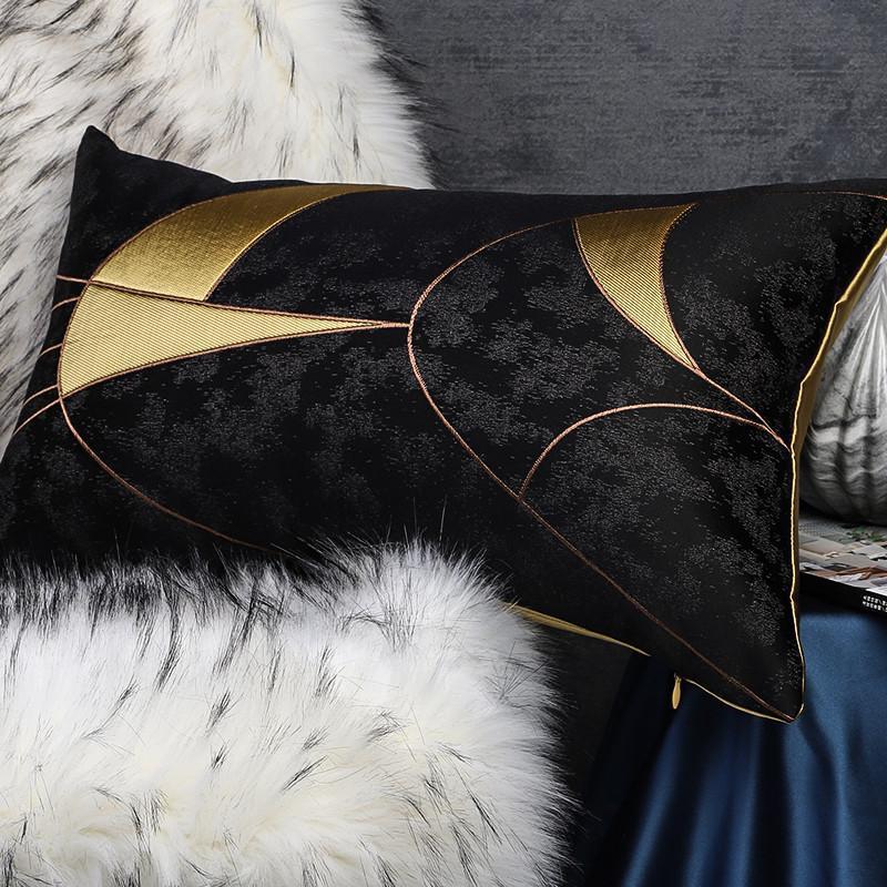 Kissen / dekorative Kissen Geometrische Jacquard Kissenbezug Cojines Decorativos Para Sofa Dekorative Kissen Housse decoussin Kissen
