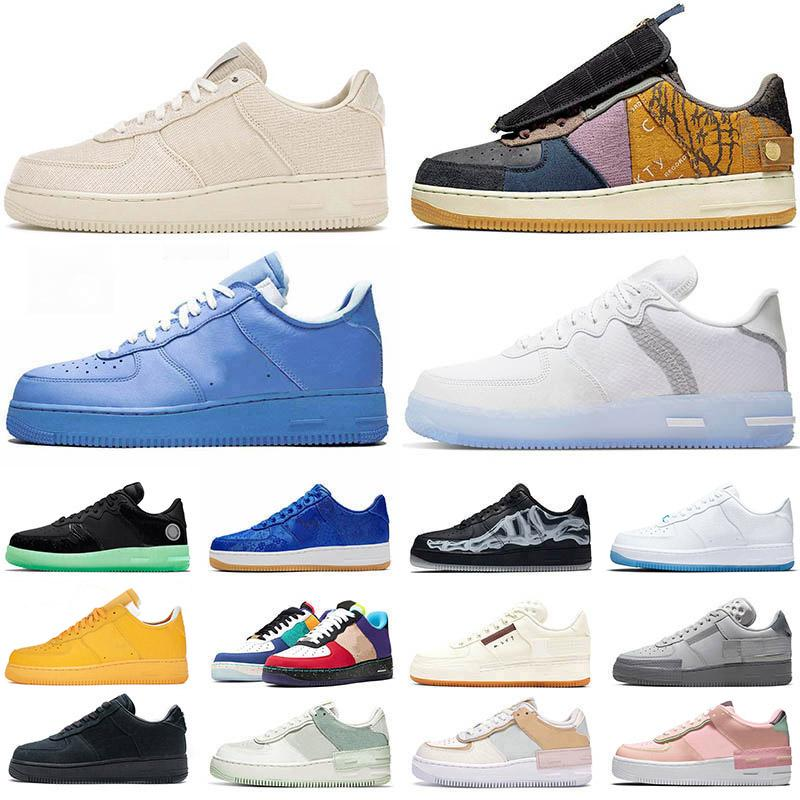 Schuhe Force 1 shadow off white mca moma af1 low Laufschuhe travis scott cactus jack just do it airforce forces one type Männer Frauen Trainer Turnschuhe