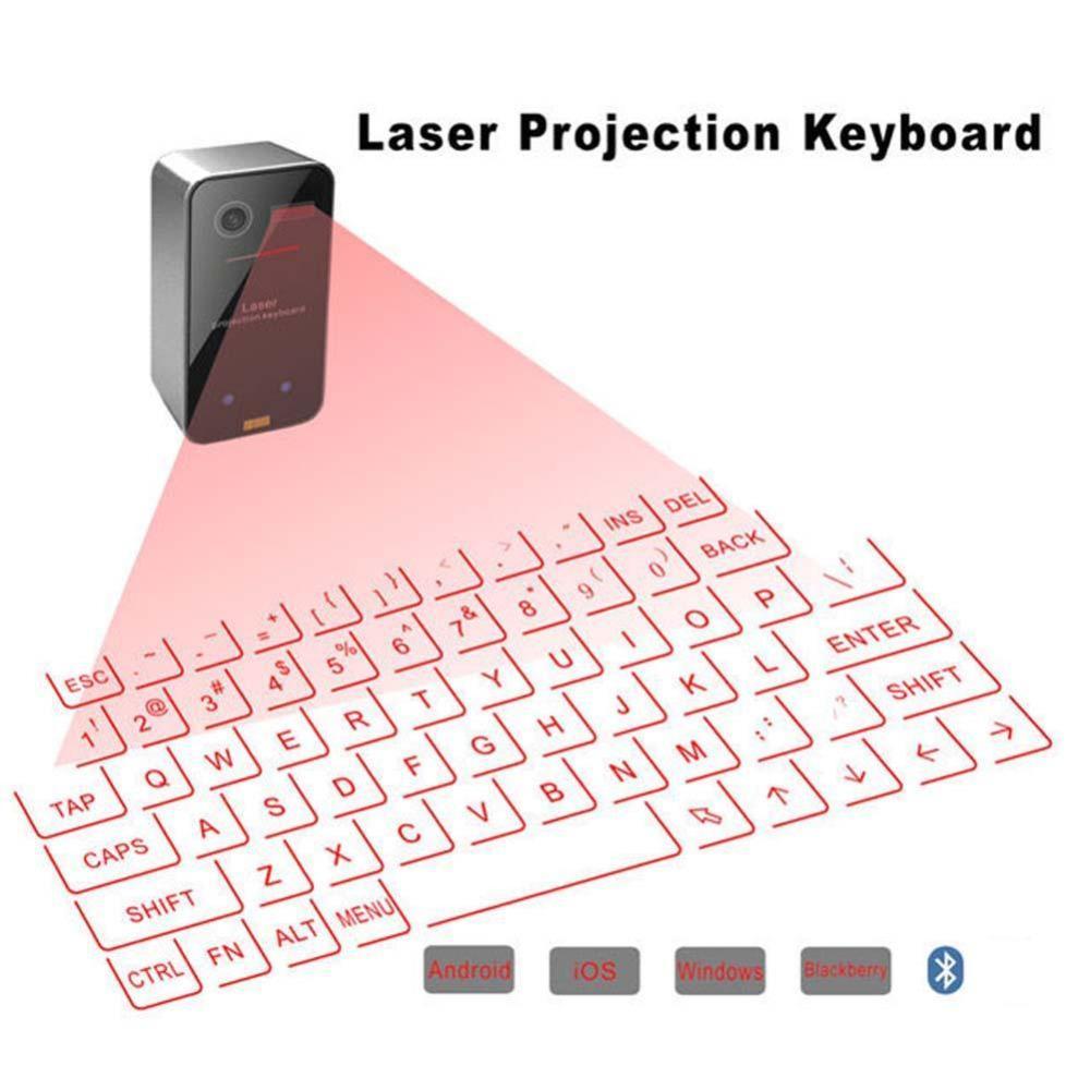 Clavier de projecteur laser sans fil portable Bluetooth Virtual Claviers virtuels avec la fonction de souris pour tablette ordinateur ordinateur portable PC Smart Phone Boîte TV Android