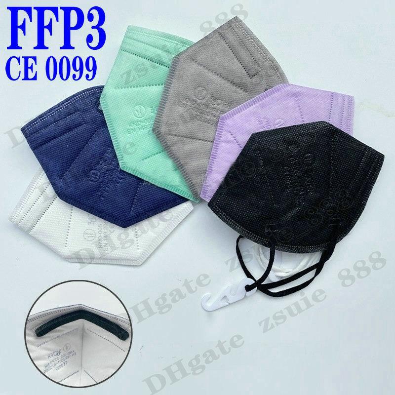 FFP3 أقنعة السلامة غبار التنفس الكبار 5 طبقات تصفية الوجه الفم ce ffp2 kn95 واقية mascarilla