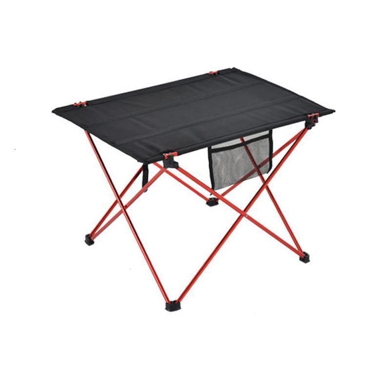 Mesa al aire libre para acampar ultrafiro Aleación de aluminio Picnic plegable Table al aire libre Tablas portátiles Black Camp Mobiliario