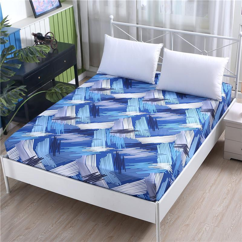 Sheets & Sets 1pc 100%Polyester Encryption Cloth Fitted Sheet Printing Bedding Adjustable Elastic Band 200*220cm A Variety Of Specifications