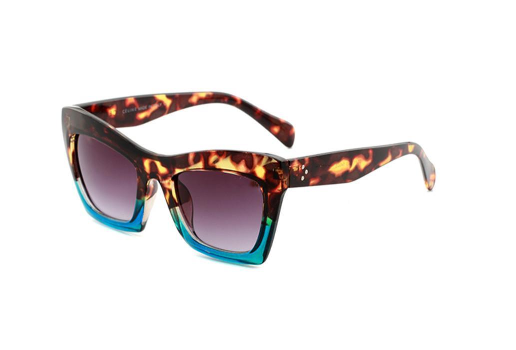 Alta Qualidade 41399 Novos óculos de sol óculos personalidade tendência óculos de sol senhoras gato olho óculos plana espelho