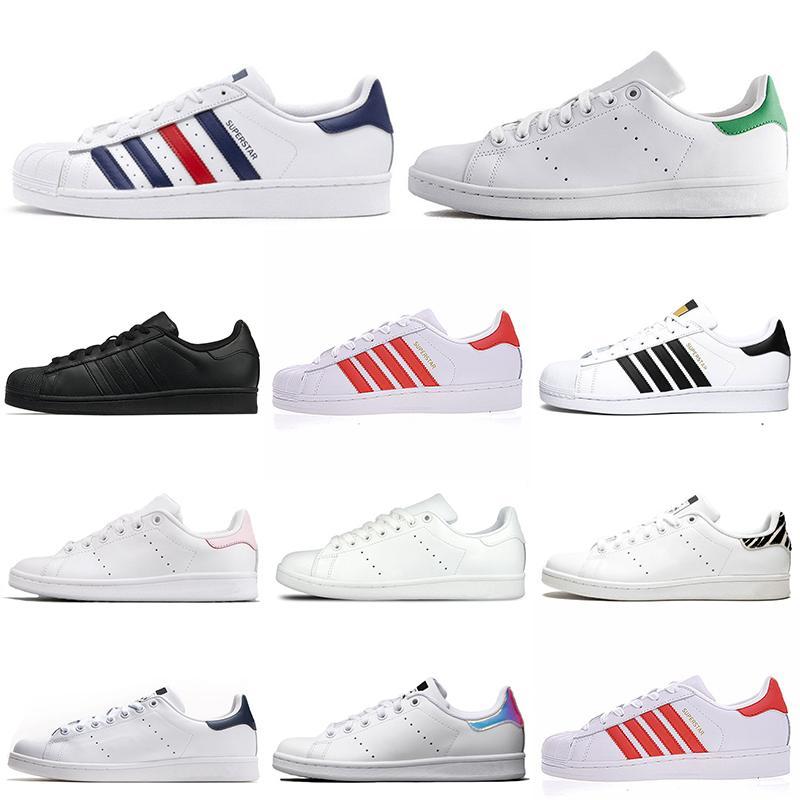 2021 ستان سميث عارضة أحذية النجوم الرجال النساء مصمم أحذية رياضية زيبرا الثلاثي الأبيض الأسود الوردي الأزرق الداكن الحجم 36-45