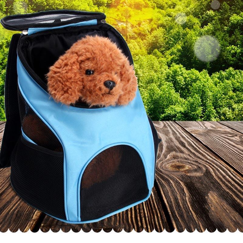 Transporteurs de chat, caisses maisons portables animal de compagnie sac de porteur respirant maille de voyage extérieur animaux domestiques portant un sac à dos double épaule pour petit faire