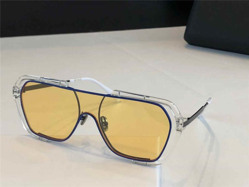 Lunettes de soleil Cool Hommes Lunettes de soleil haute valeur Personnalité à la mode Cadre transparent lunettes Aviator Square cadre lunettes de soleil 006