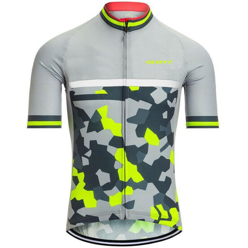 برو فريق سكوت الدراجات جيرسي رجل 2021 الصيف سريع الجافة الدراجة الجبلية قميص الرياضة موحدة الطريق دراجة قمم سباق الملابس في الهواء الطلق الرياضية Y21052601
