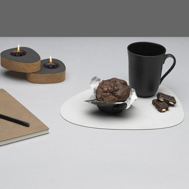 Vajilla Pad Placemat Mesa de mesa PU Aislamiento de calor de cuero Aislamiento antideslizante Simple Placemats Discos Placemat para mesa de comedor 213 V2