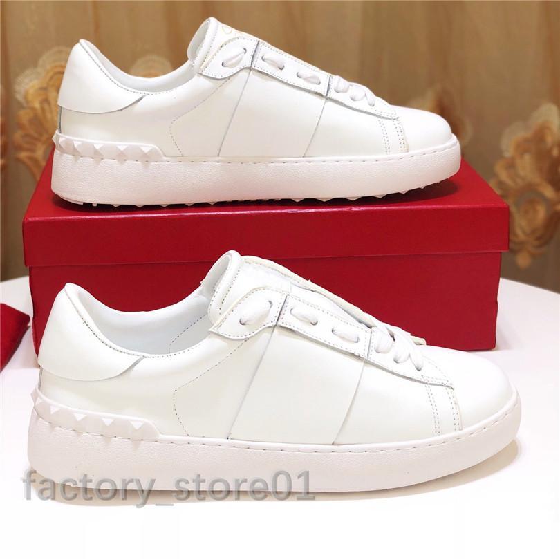 Todo Blanco Lady Comfort Casual Vestido Zapato Deporte Sneaker Hombre Casual Cuero Zapatos Diseñador Casual Deportes Skateboarding Shoe Zapatillas de deporte Lowtop