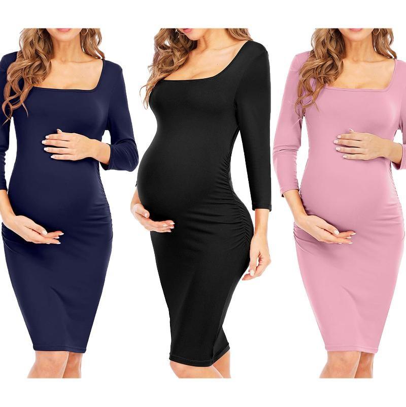 الحمل منامة النوم التمريض المرأة الحوامل حبال الرضاعة الطبيعية ثوب النوم الأمومة اللباس العمود الوردي فساتين البحرية السوداء