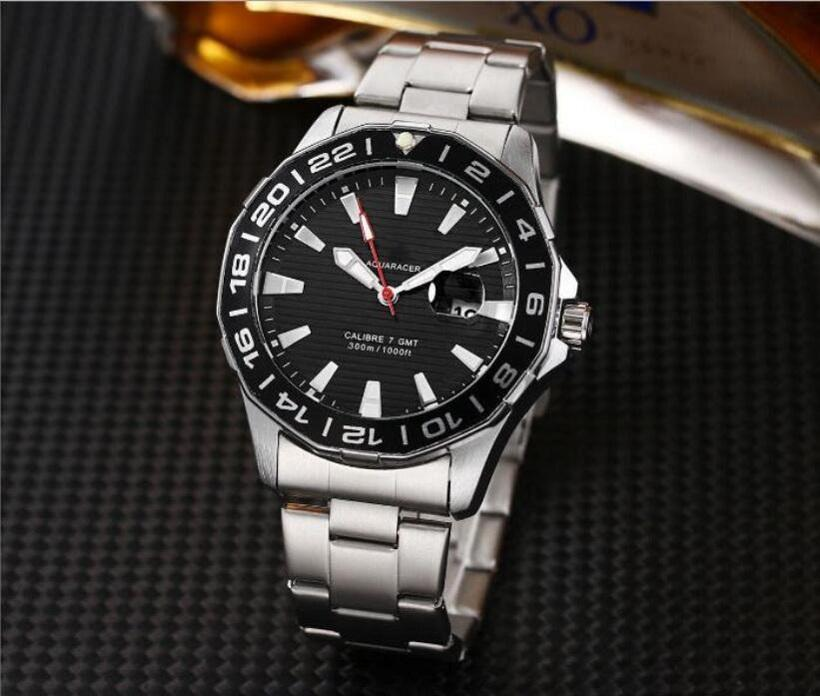 Top Designer Sport Watches TA Three Pin Quartz men's watch with steel Band Christmas G Gift