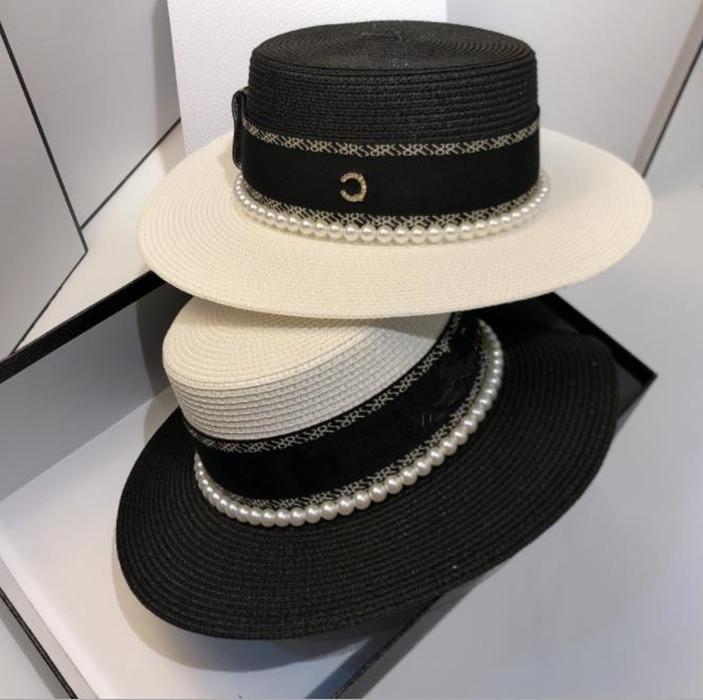 Hair Accessories lady brand bucket hat wool sun women cap pearls side designer hats fashion luxury men caps