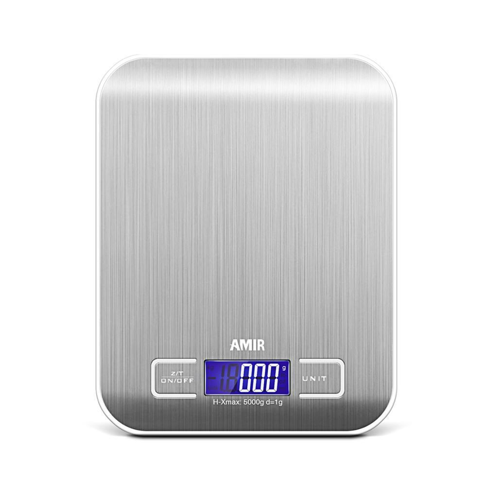 Amir digital multi-function kitchen scale food, stainless steel stainless steel platform with display lcd