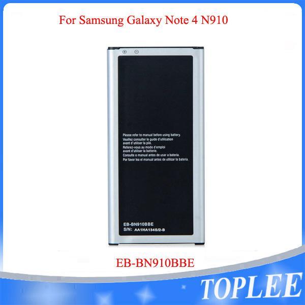 سعر الجملة! جودة عالية بطارية 3220MAH EB-BN910BBE ل Samsung Galaxy Note 4 N910 Note4 بطاريات