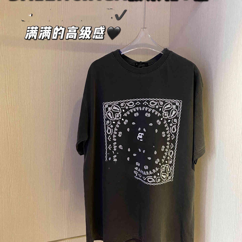 Короткая рукава пара 2021 летние новых банковской семейной буквы кешью цветов напечатанные мужские и женские футболки