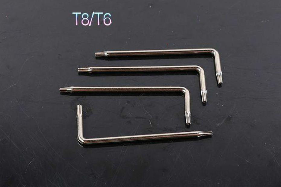 핸들 나사 T6 T8 TORX 제거 DIASSEMBLLY 대부분의 나이프 용 도구 BM42 BRS A07 A162 A161 A163과 같은 낚시 나이프 나이프